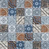 M S International AMZ-M-00506 Pasadena Mosaic, Multicolor, 15 Piece