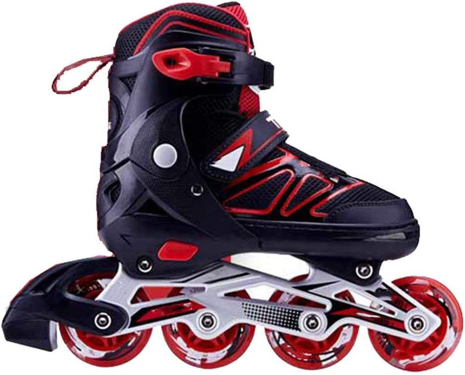 XJBHD Carbon Fiber Inline Skates for Adult Single Row Roller Blades Professional Inline Speed Skating Shoes Beginner Sports Outdoors Recreation Fitness for Men and Women Roller Skates red-38 to 41