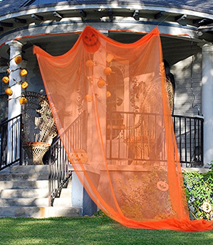 Partypeople Halloween Hanging Ghost Decorations Spooky Skeleton Prop Orange Christmas Wreath Handprints
