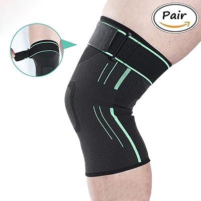 Support de manchette pour genouillère 1 paire de manchon de compression pour courir, CrossFit, autres sports et soulagement de la douleur articulaire