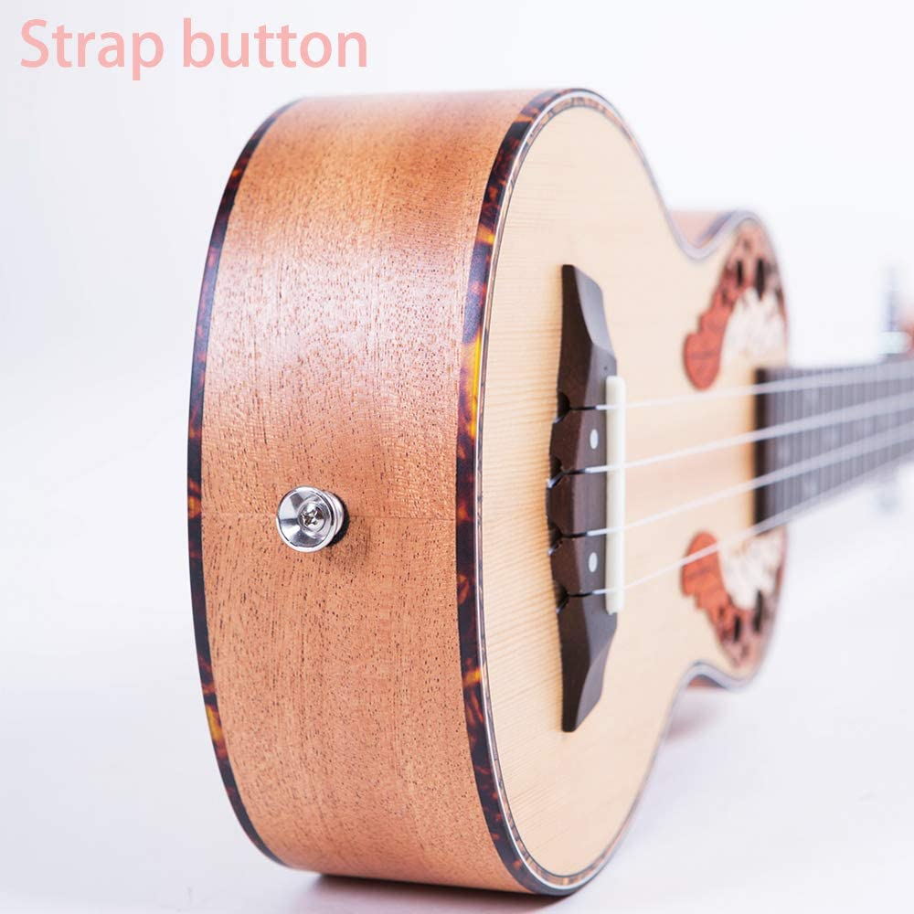 Paisen Spruce Panel 21-inch Soprano ukulele Hawaii Ukulele for Beginner and Children Send with thick Bag Tuner Capo Strap Picks Full set of accessories