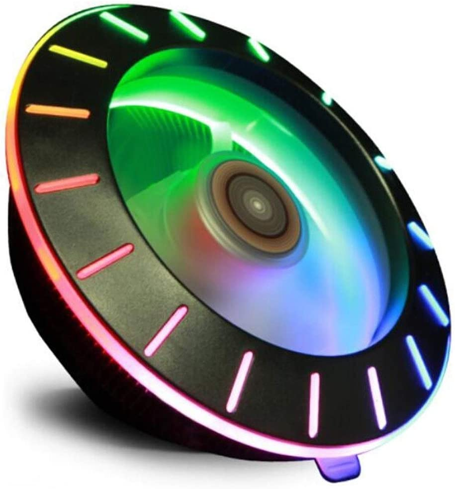 CPU Cooler CPU Cooler Color : Black Computer Accessories XIAONINGMENG Rapid Cooling Fixed Color LED Light//Mirror Surface Milling//Multi-Platform // 40,000 Long Life //