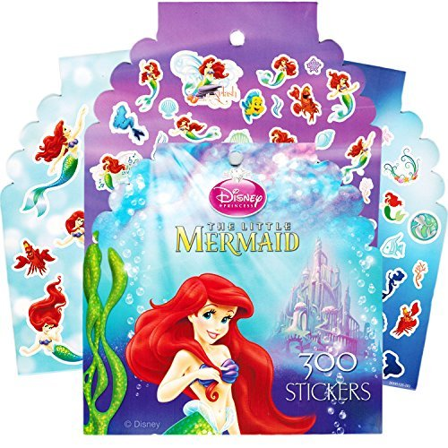 Disney Little Mermaid Stickers ~ Over 300 Stickers Featuring Ariel and More! (Little Mermaid Sticker Sheets)