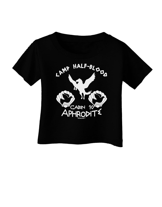 TooLoud Cabin 10 Aphrodite Camp Half Blood Infant T-Shirt Dark