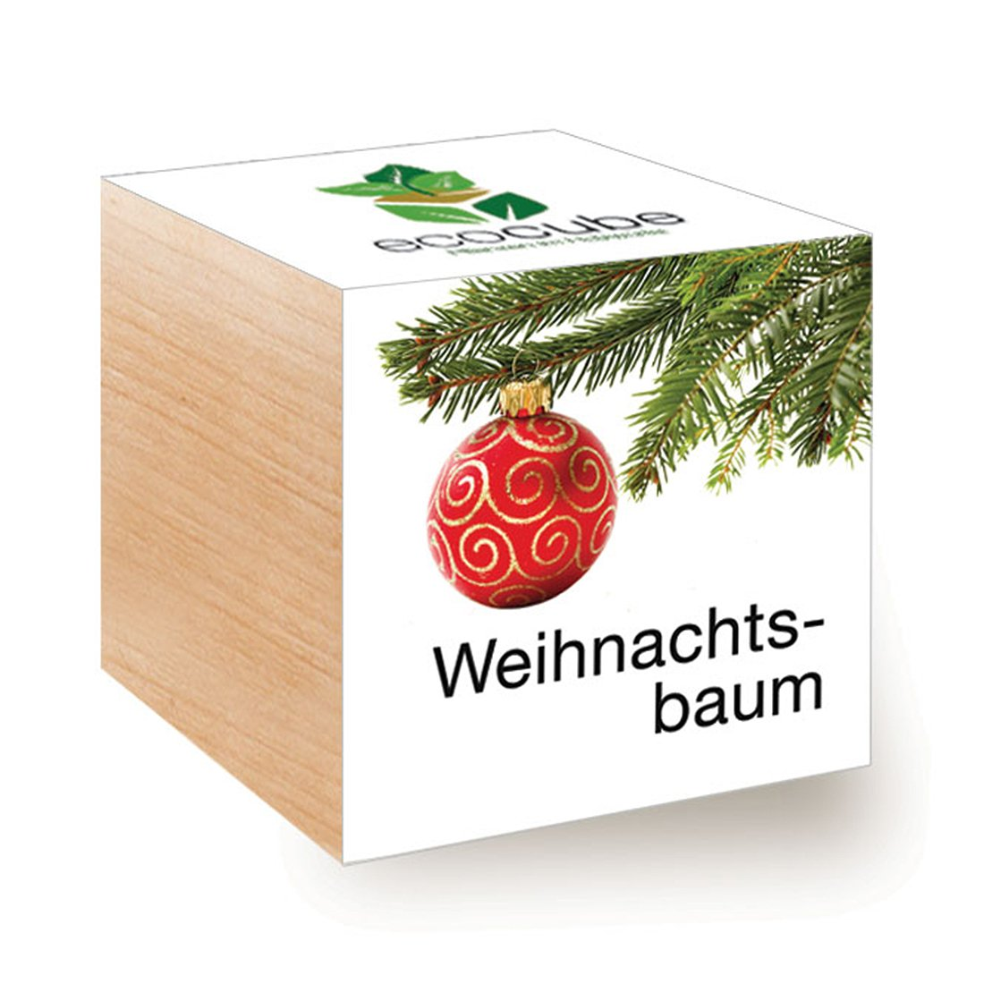 ecocube Holzwürfel - Xmas Tree Inventive Trading