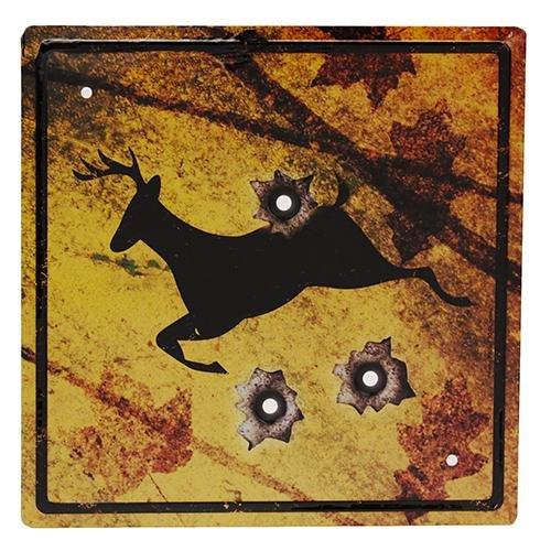 Rivers Edge 1485 Deer Crossing Tin Sign