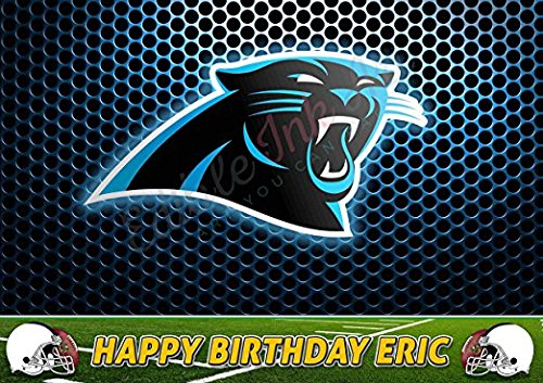 Carolina Panthers NFL Edible Cake Topper Personalized Icing Sugar Paper A4 Sheet Birthday party Cake Decoration Edible - Carolina Place Hours