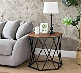Indoor Multi-Function Accent Table Study Computer Home Office Desk Bedroom Living Room Modern Style End Table Sofa Side Table Coffee Table Metal frame side table