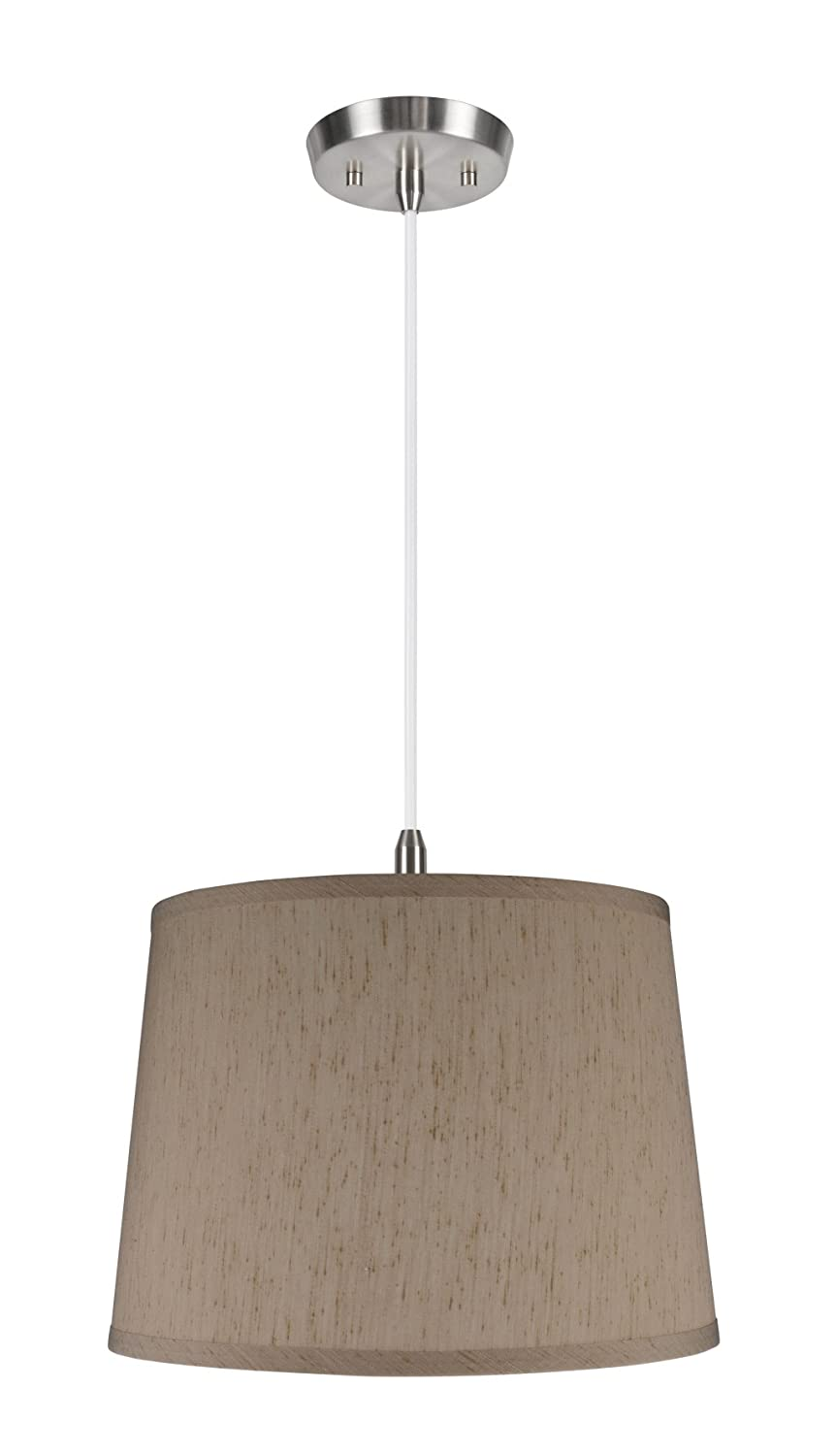 Shade in Off White 12 x 14 x 10 Off Aspen Creative 72052 One-Light Pendant with Hardback Shaped Spider