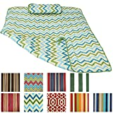 Sunnydaze Durable Outdoor Polyester Quilted Hammock Pad and Pillow Only, Color Options Available