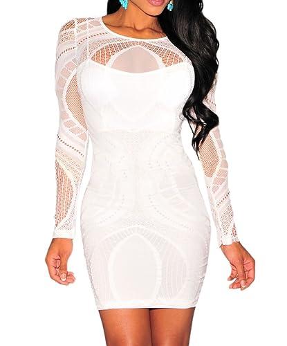 made2envy Keisha Lace Nude Illusion Bodycon Dress