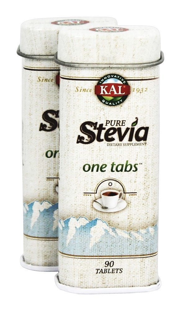 Kal - Pure Stevia One Tabs Twin Pack - 90 Tablets by KAL