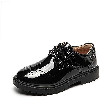 Kleines Kind Uniform Shool Schuhe Oxford Kleid Leder Schuh Anti-Slip Slip-on Loafer für Tanzen Ball (Kleines Kind/Großes Kind) (Color : White, Size : 26)