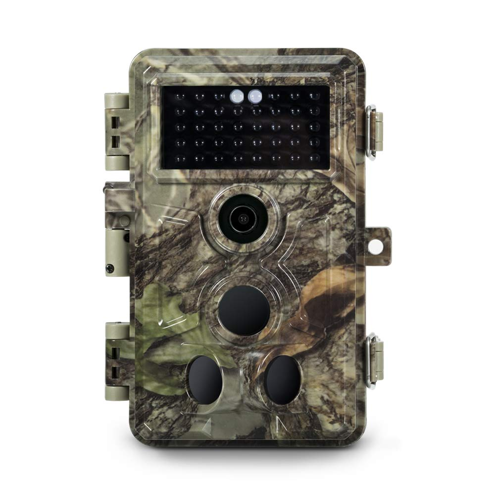 Meidase 2019 Upgraded Trail Camera 16MP 1080P, Game Camera with No Glow Night Vision Up to 65ft, 0.2s Trigger Speed Motion Activated, Loop Recording, Waterproof for Outdoor Wildlife Scouting (Brown) by Meidase