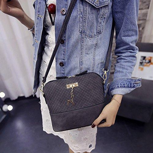 with Contever® Lady's New Deer Pendant Grey Bags Shoulder Grey Handbag Crossbody Bag qBp0q