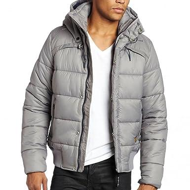 0bca2921b G-STAR RAW Denim Mens Whistler Padded Hooded Bomber Puffer Jacket Coat