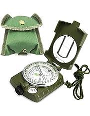 ydfagak kompas, wandelen, waterdicht, militair navigatiekompas met fluorescerend design, perfect voor kamperen, wandelen en andere outdooractiviteiten