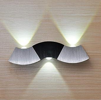 Forma curva personalidad figura lámpara de pared escalera pasillo sala de estar diseño dormitorio lámpara de noche: Amazon.es: Iluminación