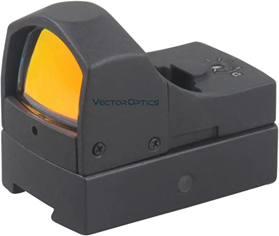 TAC Vector Optics Sphinx 1x22 Dovetail Mini Reflex Red Dot Sight Scope with 11mm Mount Base Fit Winchester Gamo Benjamin Air Rifles Color Black