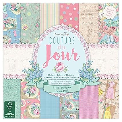 12 Designs, FSC Dovecraft Couture Du Jour Collection Paper Pack 12x12