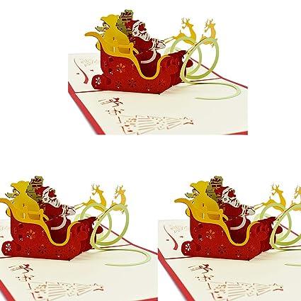 Tarjetas de Navidad 3d pop up, 3d Tarjetas Reno Juego alce ...