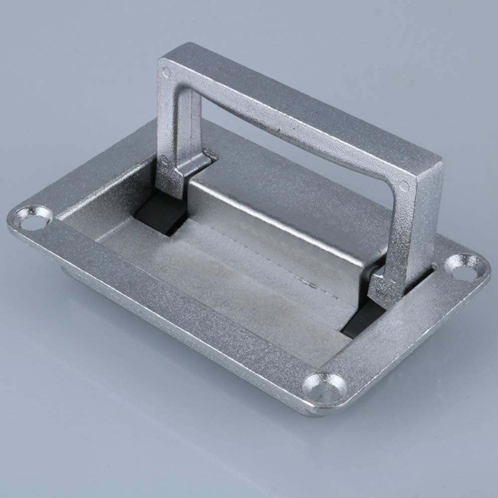 YOUNICER 1 Pieza Rect/ángulo de Metal en Forma de Caja de la Puerta del gabinete Empotrado Tiradores Plegables Empu/ñadura de Agarre