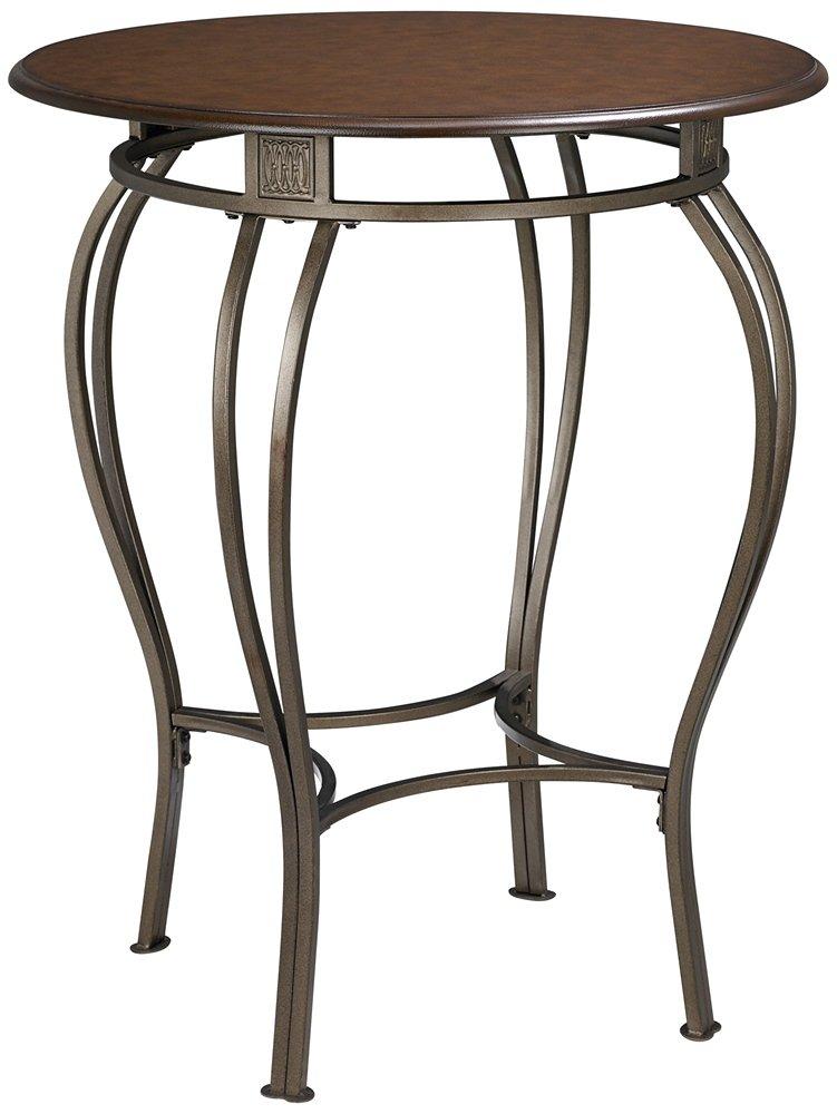 Amazon.com: Hillsdale Furniture Pub Table W Wrought Iron Base U0026 Wood Top    Montello: Kitchen U0026 Dining