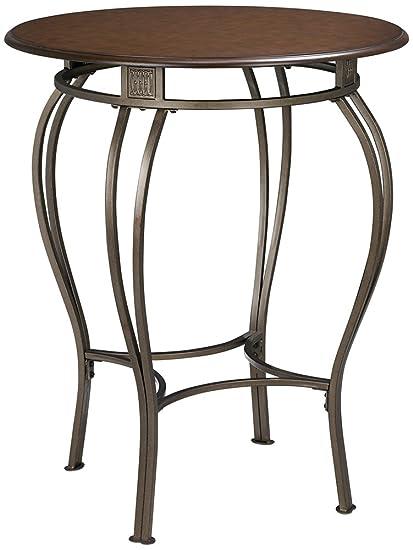 Hillsdale Furniture Pub Table W Wrought Iron Base U0026 Wood Top   Montello
