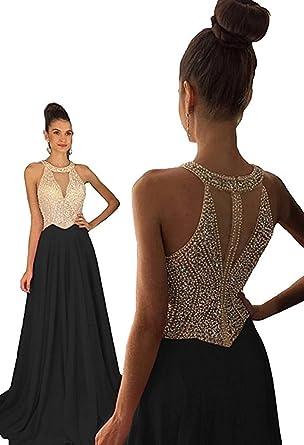 prom dresses with black rhinestones