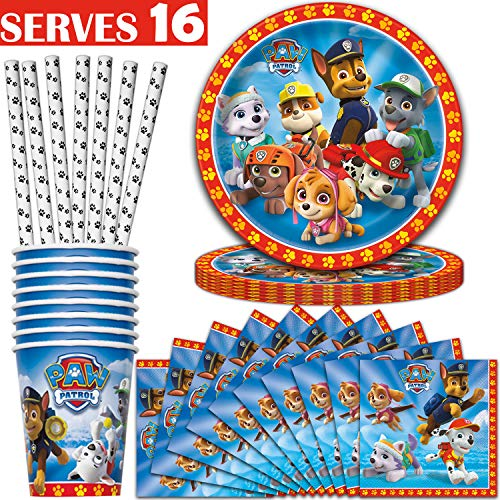 Paw Patrol Party Supplies - Serves 16 - Plates (9