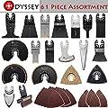 Odyssey Oscillating Multitool 61 Piece Assortment Pack Platinum Saw Blades for Wood Plastic Metal Bundle (61-Items)