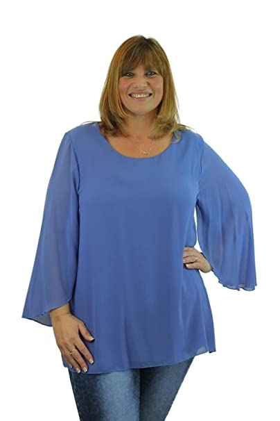 Instagram Camisas - Redondo - Manga Larga - 20 DEN - para Mujer Azul Azul Talla