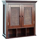 Elegant Home Fashions - Jasper 2-door Wall Cabinet Made With Cubbies For Extra Storage