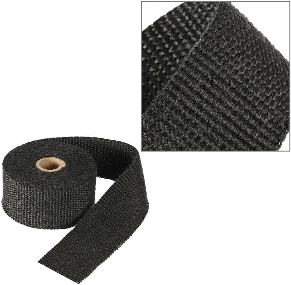 5m Fibra de vidrio de fibra de vidrio Wrap Roll Motocicleta del coche de aislamiento t/érmico Wrap Turbo M/últiple de admisi/ón Heat wrap Cinta de protecci/ón de calor durable 0.5//1//3