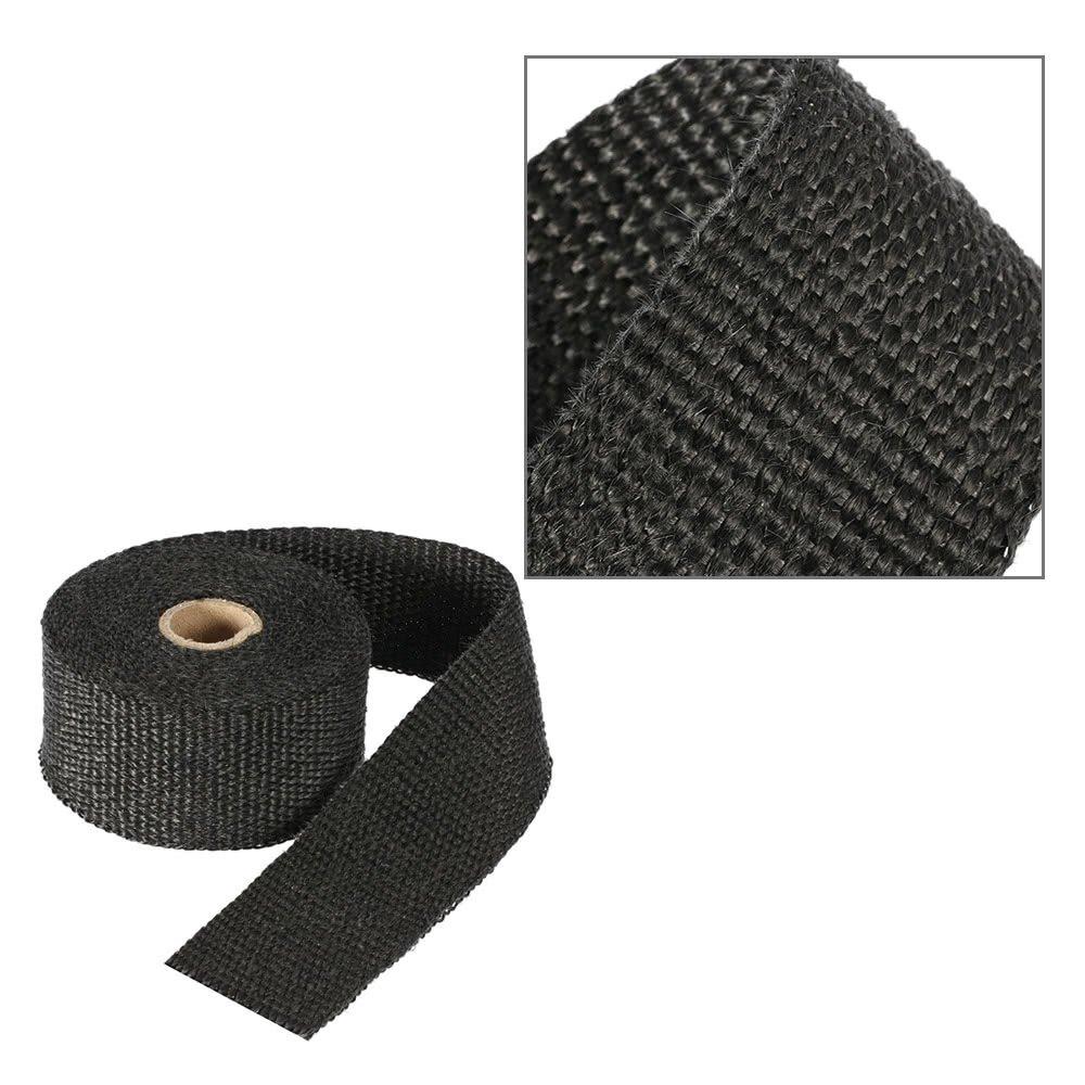 6 Liens pour Moto//Voiture Noir KKmoon 5m Bande Isolant Thermique Collecteur Echappement Haute Temp/érature