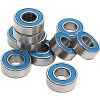 SODIAL 10Pcs MR115 2RS Ball Bearings 5x11x4mm For Traxxas Slash Rustler Stampede Wheel