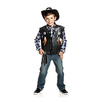 Kostumplanet Cowboy Weste Kinder Jungen Kostum Wilder Westen Cowboy