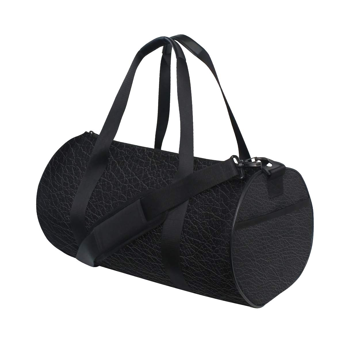 Black Yoga Sports Gym Duffle Bags Tote Sling Travel Bag Patterned Canvas with Pocket and Zipper For Men Women Bag