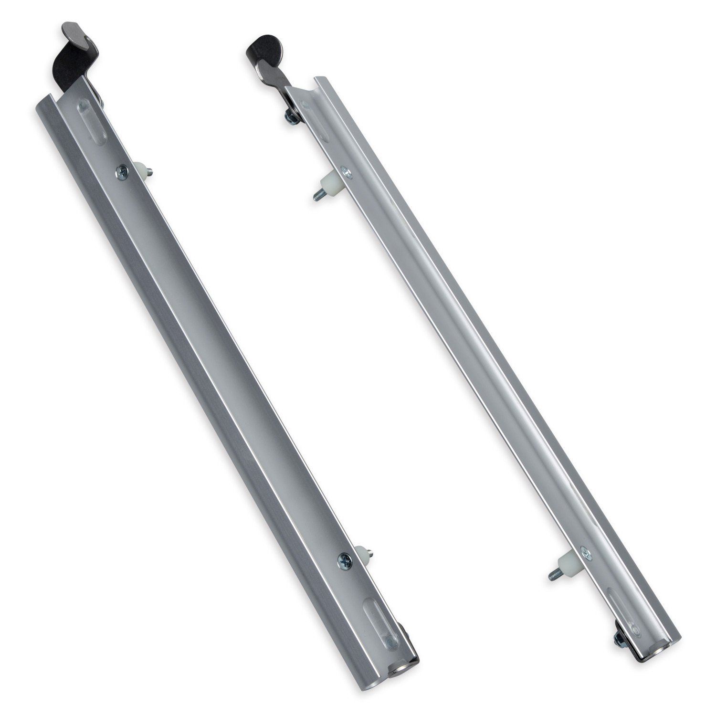 Plexidor Performance Pet Türen TOP SWING Schiebetür Track mit Flip Lock, Silber