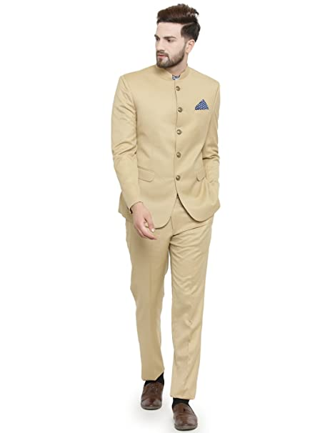 Amazon.com: luxurazi étnico Beige bandh Gala funda traje de ...