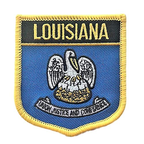 - Louisiana Flag Badge Iron On/Sew-On Patch
