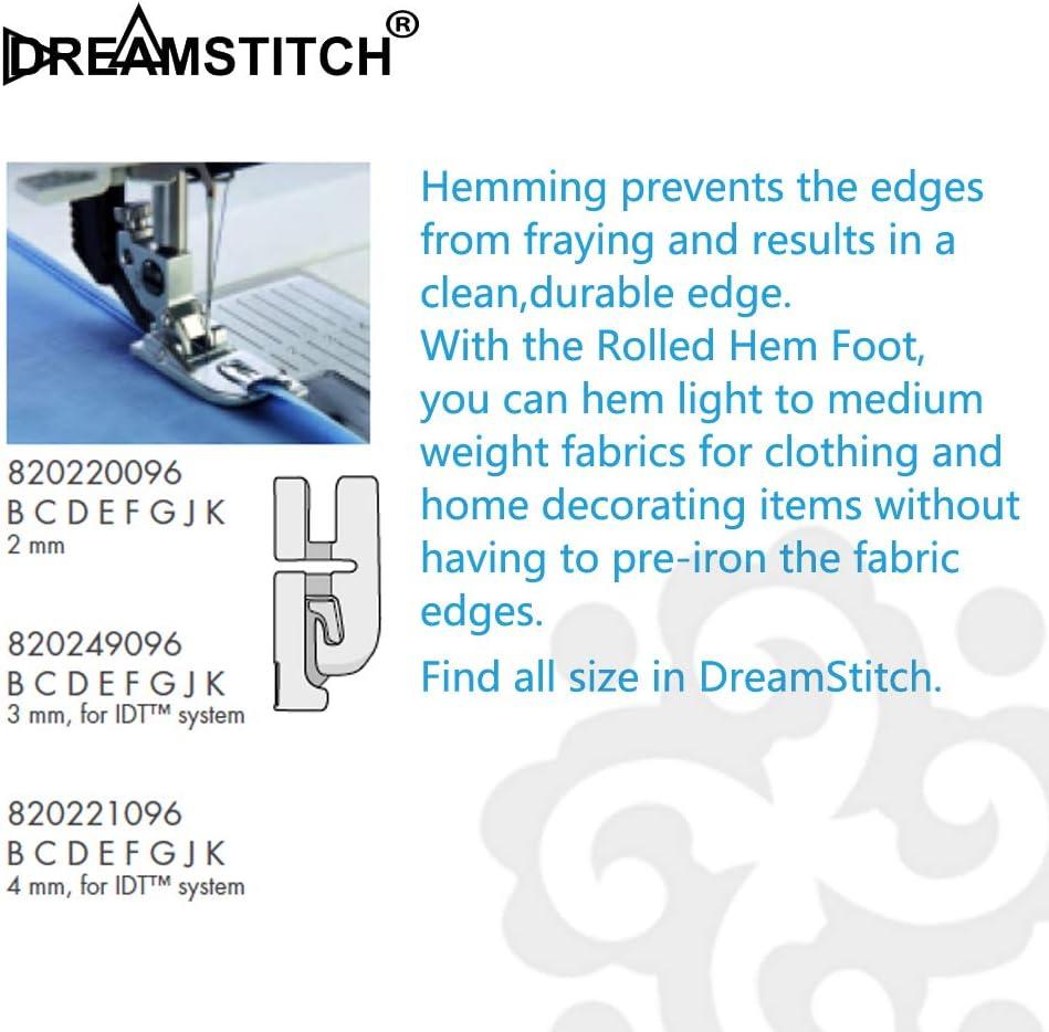 DreamStitch 820249096 - Prensatelas para máquina de coser Pfaff (3 ...