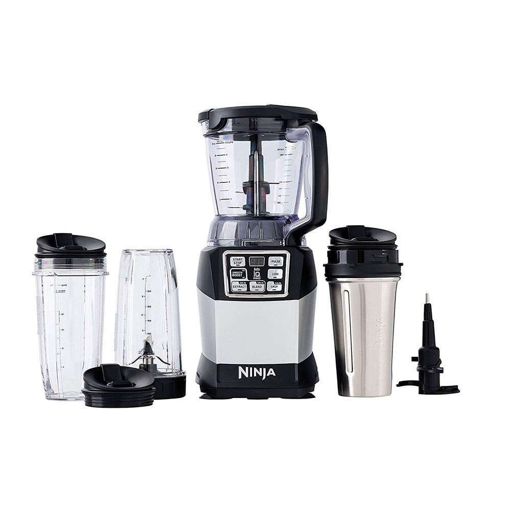 Nutri Ninja BL492 Auto-IQ Compact Blending System 1200 Watts (Certified Refurbished) by SharkNinja (Image #1)