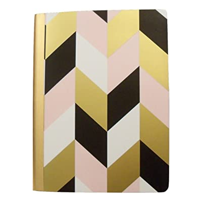 "Studio C Carolina Pad College Ruled Foil Cover Composition Book ~ Put it in Neutral (Chevron Fun; 7.5"" x 9.75""; 100 Sheets, 200 Pages): Toys & Games"