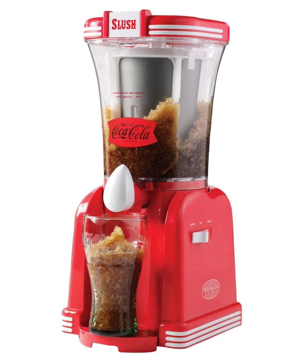 32 oz. Electrics Slush Machine with Cup Rest and Detachable Drip Tray- Red