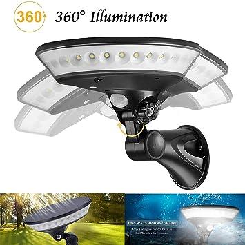 de °luz 360 RSGK LED3 Solar de Solar Aplique Seguridad vwN80mn