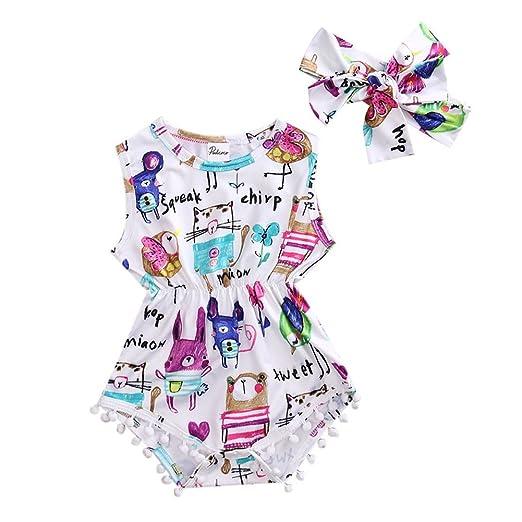 8a54eb5a4429 Amazon.com  GRNSHTS Baby Girls Desert Cactus Sleeveless Pom Romper Jumpsuit  with Headband  Clothing