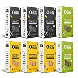 The Only Bean - Organic Edamame, Soy, Black Bean Spaghetti and Fettuccine Pasta, Gluten Free Noodles, 8oz (8 Pack Variaty)