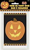 Pumpkin Glow Halloween Treat Bags, Pack of 50