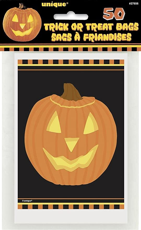 Pumpkin Halloween Treat Bags, 50ct